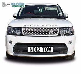 No1 2 TOW reg for sale Recovery or Breakdown Truck car van NO12TOW