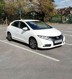 Honda Civic 1.6 IDTEC ES,Cruise control,Parking Assist, BlueTooth, ClimateControl, 0Road Tax, 76mpg,