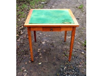 pine card table