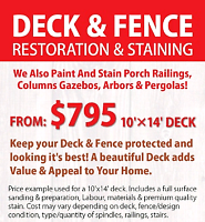 Deck Staining & Fence Refinishing / Staining /  Painting