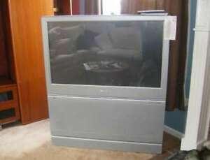 Old Large Obsolete Projection TVs