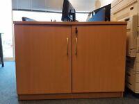 2 Door Sideboard Storage Unit in Beech 1000 wide x 600 deep x 720 high. Pick up only