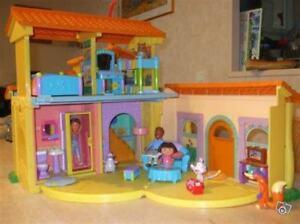 Maison Dora, figurines et meubles