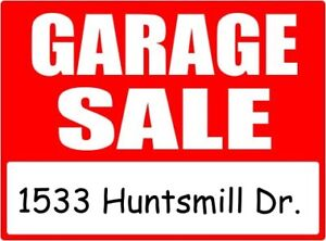 GARAGE SALE IN PICKERING - Sat. Aug. 11th - 1533 Huntsmill Dr.