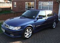 SAAB 9-3 2001 TURBO. bleu royal (limited edition).