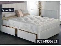 divan bed double with luxury memory orto pLBN