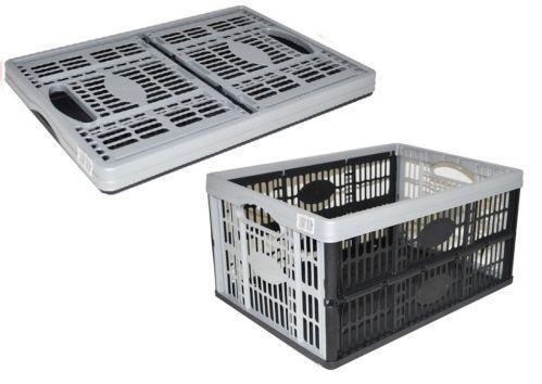 Folding Plastic Storage Boxes Ebay