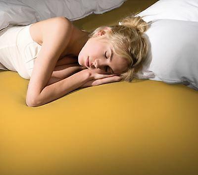 Formesse Bella Donna Jersey Spannbetttuch 90/190x100/220 cm 0040 Goldgelb