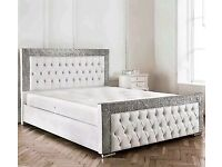 🔴 Best Seller on Gumtree 🔴 Bed Frame in Glitter n Diamonds Headboard - Can be Made in Any Colour