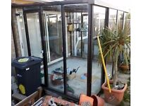 DIY Steel Garden Room come lean to or greenhouse