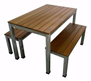 New Balcony Outdoor Furniture Bench 3 Pc Outdoor Dining Setting Melbourne CBD Melbourne City Preview