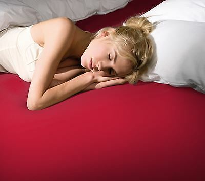 Formesse Bella Gracia Spannbetttuch 90/190x100/220 cm 0185 Rot super Passform