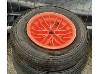 Trolley / wheelbarrow wheels x 2