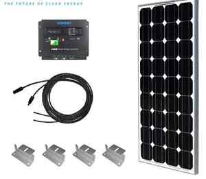 Solar RV kit 100watts + charger, mounting and cables