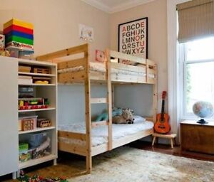 Kids Timber Bunk bed with two mattresses - AS NEW Parkinson Brisbane South West Preview