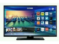 "Brand New Luxor 40"" LED Smart WiFi tv built-in HD free view USB player full HD."