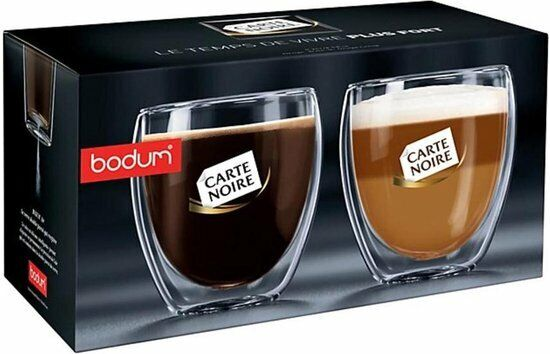 Bodum Pavina Glass, Double-Wall Insulated Glasses, Clear, 8