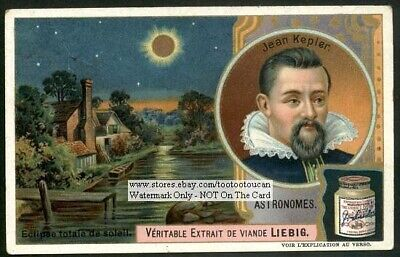 Astronomy Kepler Solar Eclipse c1906 Trade Ad Card