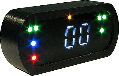 RACETRONICS DigitalTacho MDTV2 LED-Kontrolleuchten Alu schwarz elox Anzeige blau