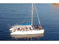 Get married in IBIZA! Catamaran for rent for private parties and events!