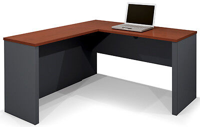 Laminate Bordeaux Graphite Finish L Shape Desk