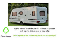 2006 07 SPRITE (SWIFT) FIREBRAND 512, 5 BERTH WITH BATHROOM & AWNING, NO RESERVE