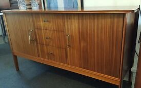 1950s Peter Hayward for Vanson Walnut Veneered Sideboard/Credenza. Vintage/Retro/Mid Century.