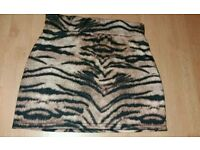 Ladies tiger print skirt size 12 glam rock metal grunge alternative
