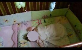 Baby girls nursery bedding set