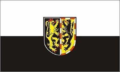 Hof Flagge (Aufkleber Landkreis Hof Flagge Fahne 8 x 5 cm Autoaufkleber Sticker)