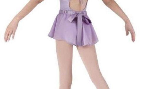 NWT Bloch Dance Lilac Sheer Skirt Satin Back Bow Girls Sm Child 4-6 CR1767