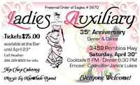 Eagles Ladies Auxiliary 35th Anniversary Dinner and Dance