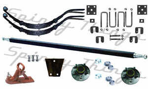 DIY-Single-Axle-TRAILER-KIT-1000kg-Trailer-Parts-Caravan-Boat-Axle-Springs