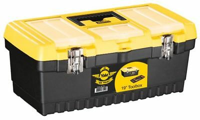 """Yale Toolbox 19"""" Sturdy Design, removable compartment, carry handle BRAND NEW"""