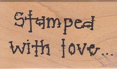 """stamped w/love imaginations Wood Mounted Rubber Stamp 1 1/2 x 2""""  Free Shipping"""