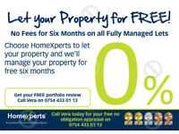 NO FEE FOR SIX MONTHS ON FULLY MANAGED LETS