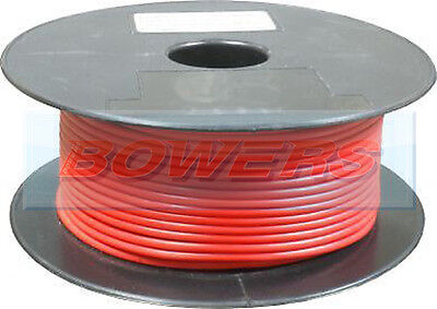 50M METRE ROLL/REEL RED SINGLE CORE CABLE/WIRE 8.75AMP 14 STRAND 1mm 1.00mm²