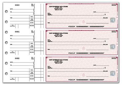 7 Ring 3 On A Page Business Checks 250ct. w/ Safety Hologram *Authorized Dealer*