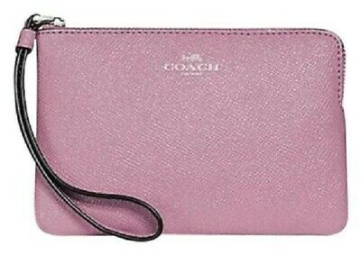 BNIB Coach wristlet bag pink with shimmer