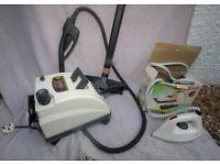 Vaporetto Carpet Cleaner and Steam Iron plus accessories.