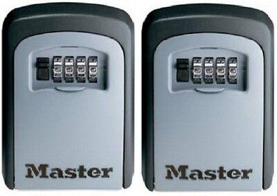 2 Ea Master Lock 5401d 4 Dial Resettable Combination Key Storage Lock Box
