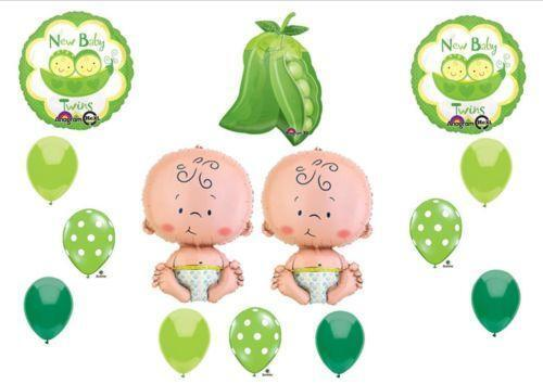 Twins baby shower decorations ebay for Baby shower decoration twins