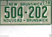 New Brunswick License Plate