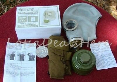 Gas Mask ADULT SMALL Military Surplus NBC GP-5 Filter Bag defense costume s