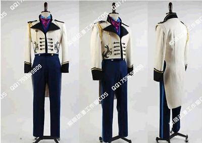New! Disney Frozen Prince Hans Cosplay Costume Custom Made :ZBY3