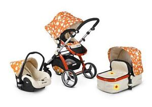 Gorgeous 3 in 1 pram car seat stroller travel system