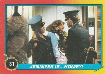 Jennifer Back To The Future (1989 Topps Back To The Future II #31 Jennifer is...Home?! > Claudia)