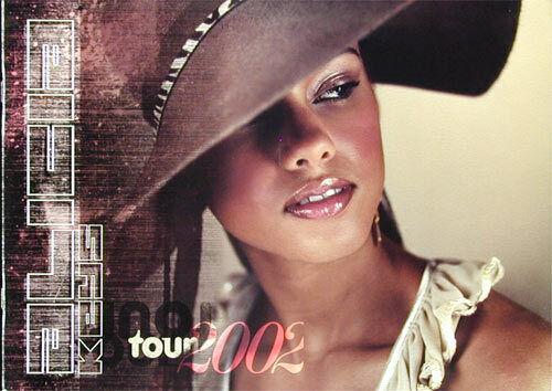 Alicia Keys ORIGINAL 2002 Tour Book Concert Program soul pop HUGE w/photos
