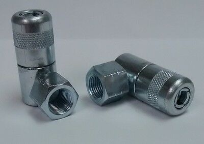 18-27 Npt 90 Degree Coupler Grease Zerk Fitting Nipple For 1 Piece