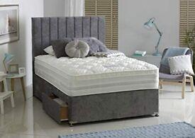 `` Brand New High Quality Plush Grey Arizona Divan on Clearance Sale ```